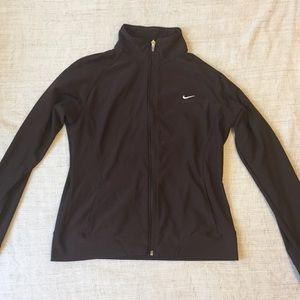 nike brown zip up sweater